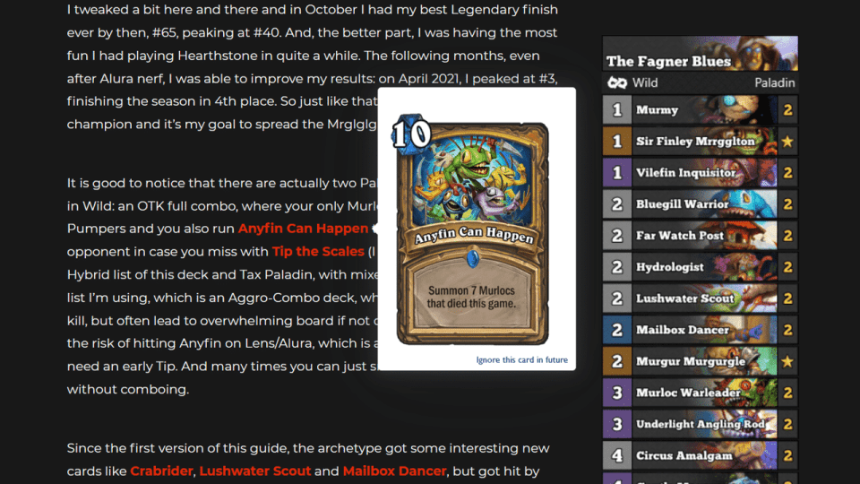 [Browser Plugin] Hearthstone Card Names into Image Popups