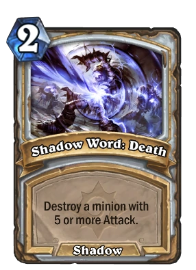 Shadow Word Death Hearthstone Heroes Of Warcraft Wiki
