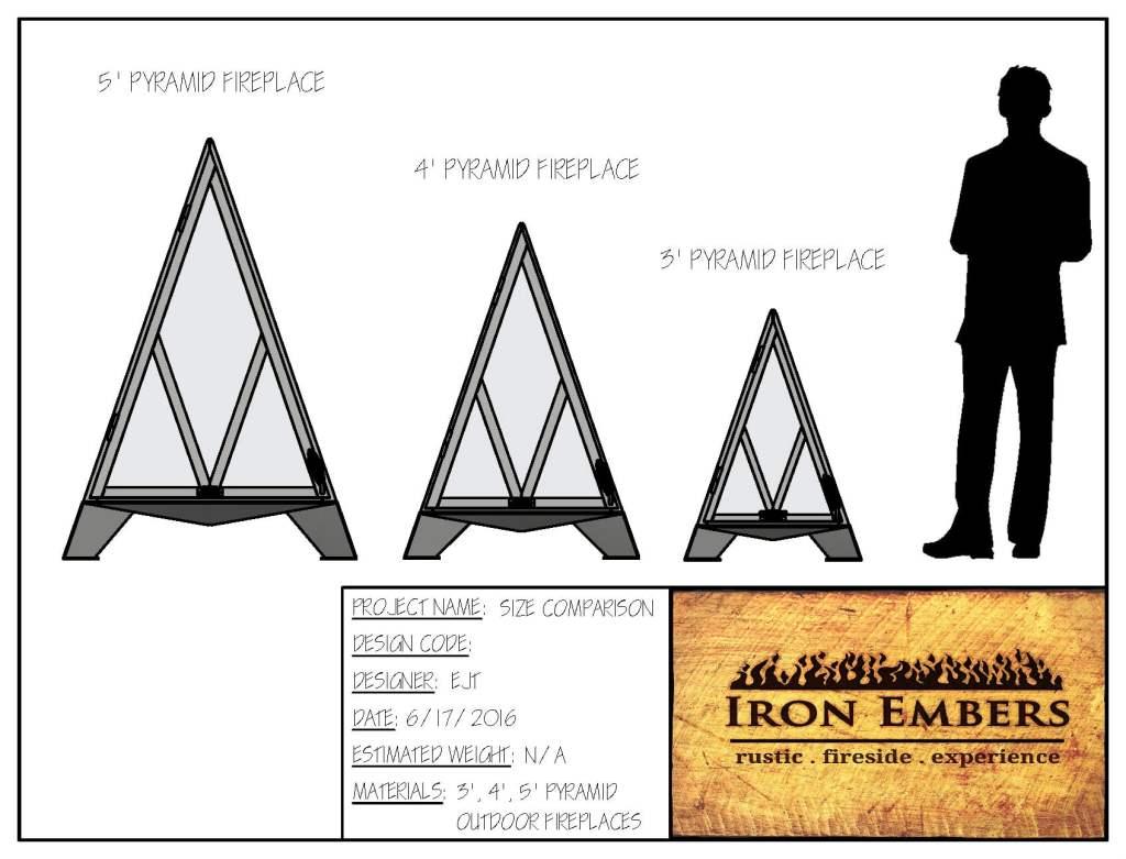 4′ Pyramid Outdoor Fireplace
