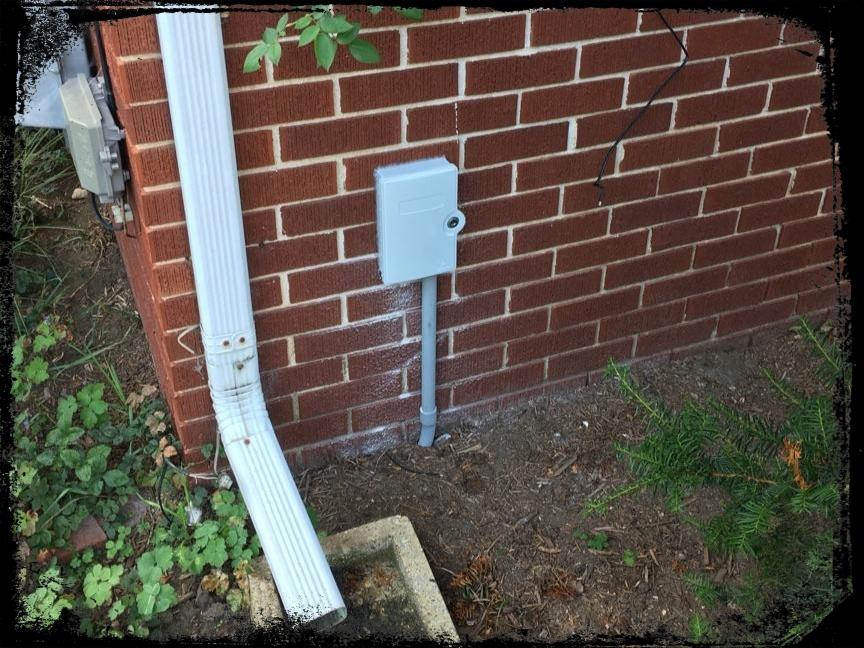 Fiber & conduit terminated into utility box on install site