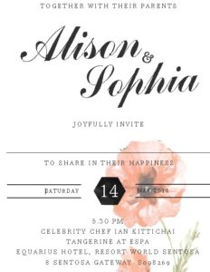 Wedding Invitation Card by Sofia Nutrition