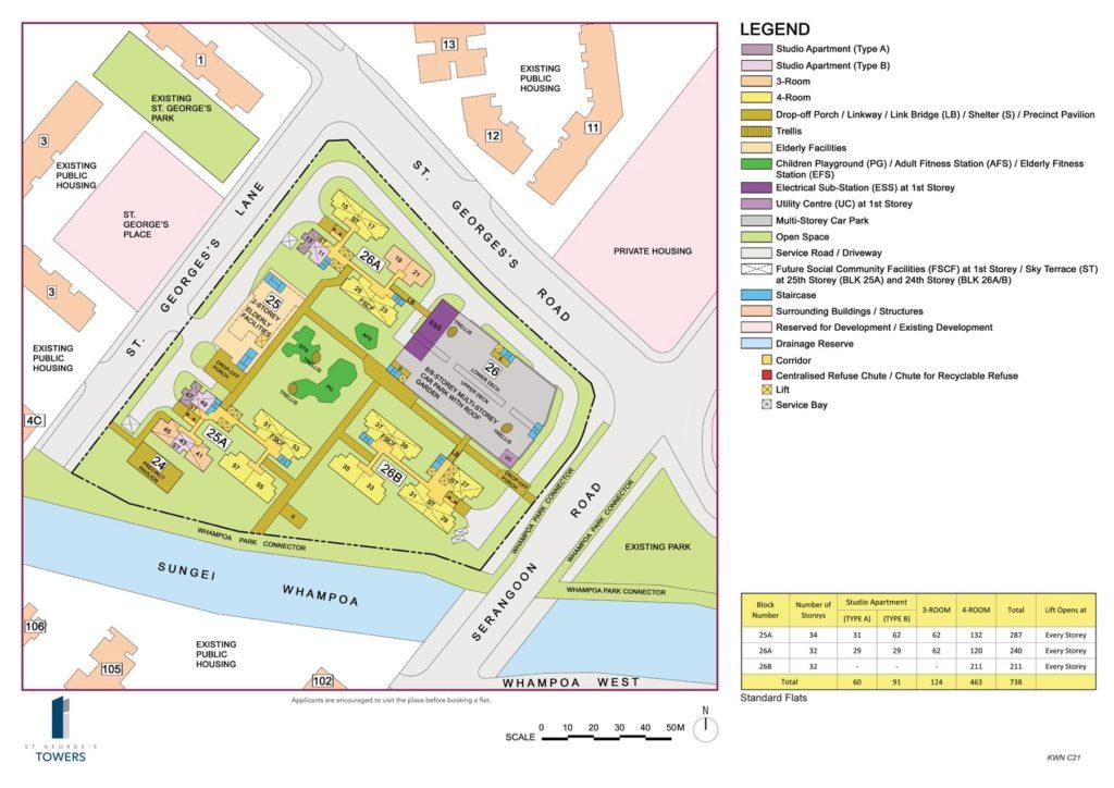 Boon Keng BTO Site Plan