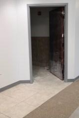 North wing bathroom - tile is laid