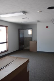 North wing classroom with bathrooms