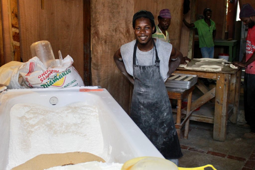 Heartline Haiti Beltis Bakery - bread production