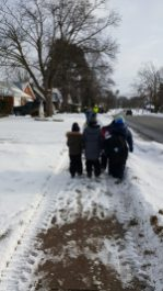 We walk in all weather conditions