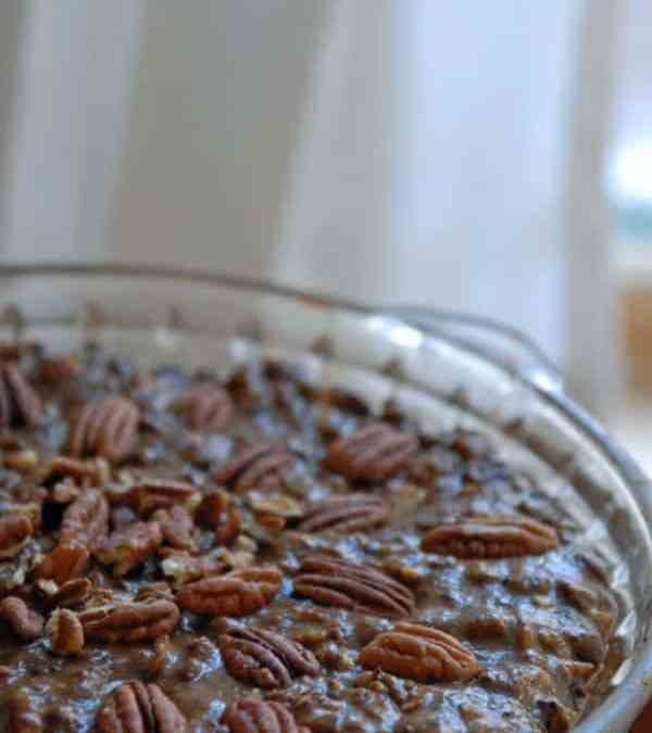 Vegan Chocolate Pecan Pie with Oat and Date Crust