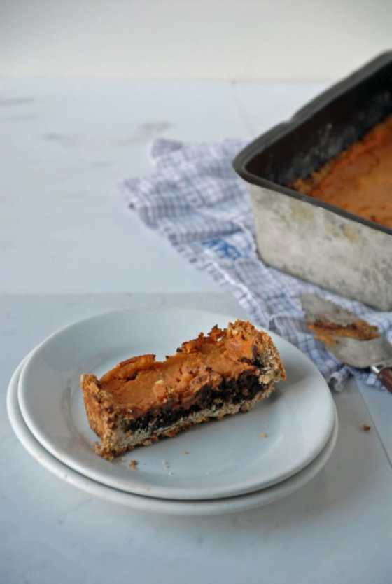 Dark Chocolate Sweet Potato Tart