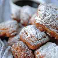 Vegan Beignets with Dark Chocolate Espresso Sauce