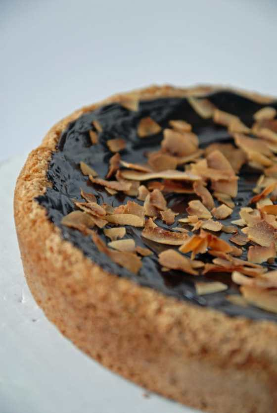 Chocolate Ganache Topped Sugar Cookie Pie