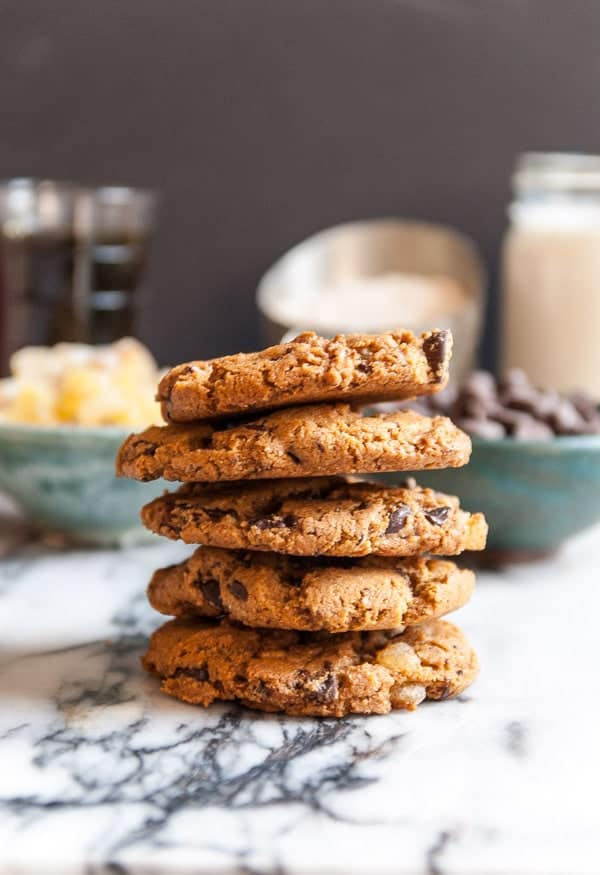 Ginger Maple Vegan Chocolate Chip Cookies