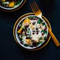 Winter Quinoa Citrus Salad with Creamy Lemon Tahini Dressing