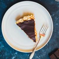 Peanut Butter Chocolate Pie with Rice Krispies Crust