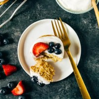 Vegan Lemon Cakes with Coconut Whip and Berries