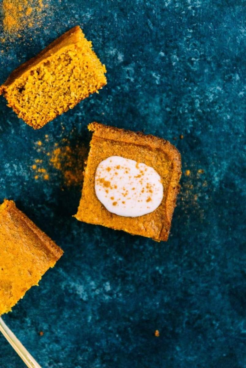 One bowl, easy pumpkin cake that is vegan and takes just 30 minutes to come together!