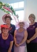 l to r, Diana Craig, Loretta Highfield, Angie Rowe, and Carol Rafferty