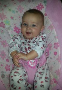 Evie is six months old