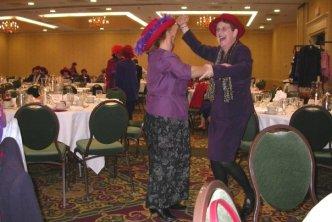 Royal Red Divas dancing to Elvis