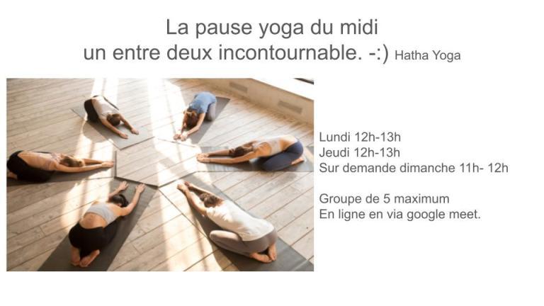 #déjeuneryoga #yogacours #midiyoga #yogaenligne
