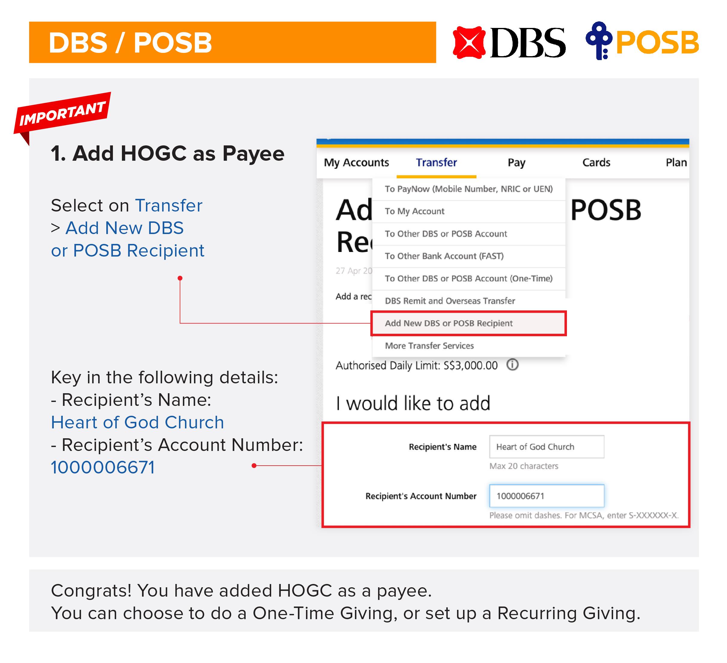 Posb Bank Code