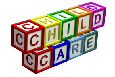 image of blocks spelling child care