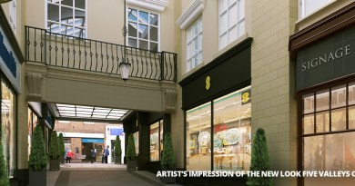 Five Valleys Shopping Centre Artist Impression