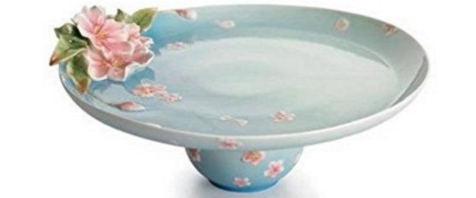 Franz Porcelain Cake Plates  sc 1 st  Heart of the Home Kitchen & Decorative \u0026 Oven Safe Ceramic Pie Plates - Heart of the Home Kitchen