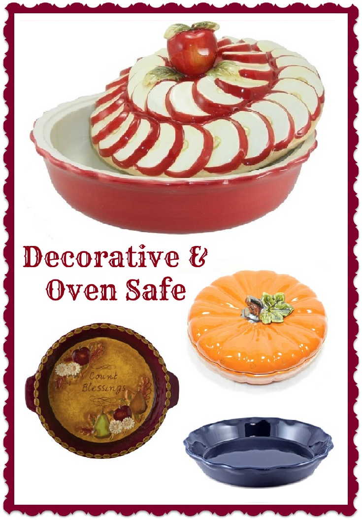 Pie Dishes  sc 1 st  Heart of the Home Kitchen & Decorative \u0026 Oven Safe Ceramic Pie Plates - Heart of the Home Kitchen