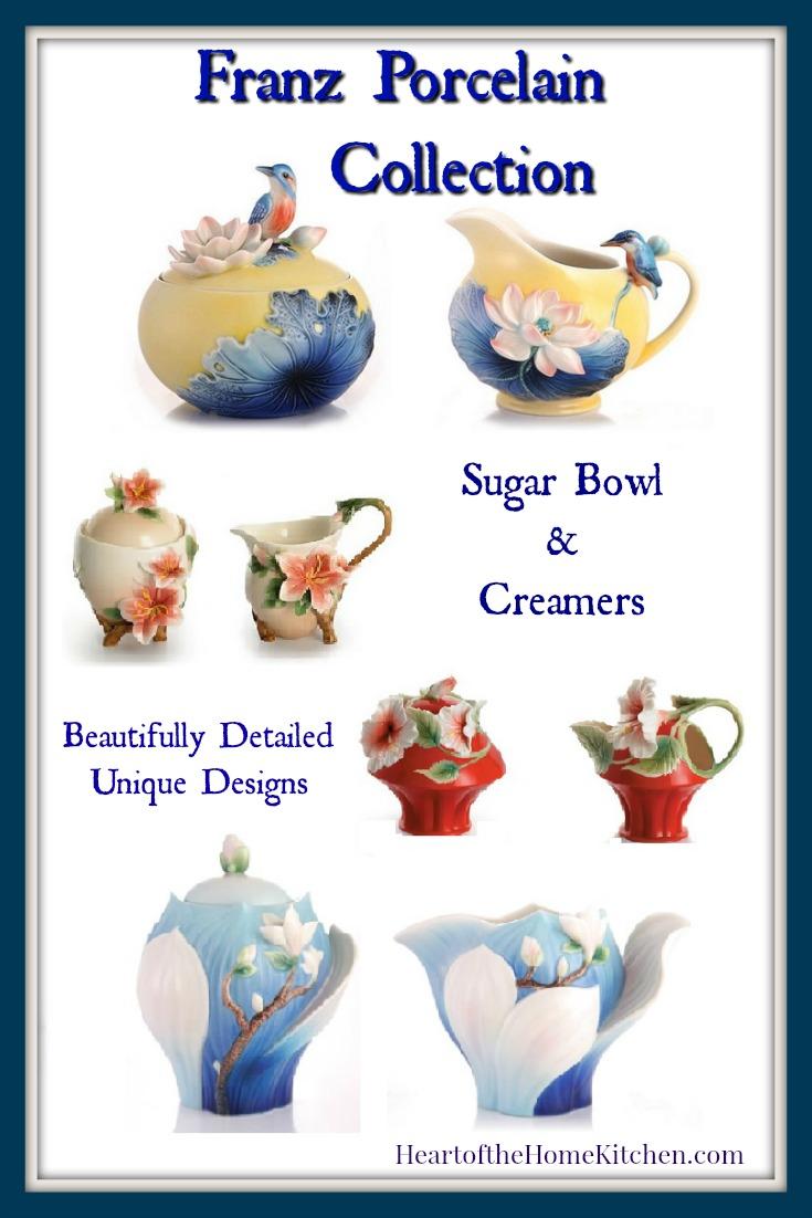 Franz Sugar Bowls and Creamer Sets