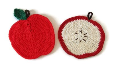 Crocheted Apple Potholder