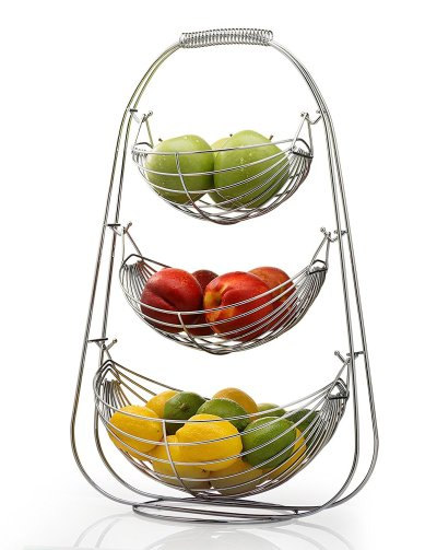 Stainless Steel Tiered Fruit Baskets