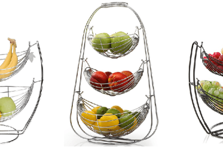 Tiered Countertop Fruit Baskets