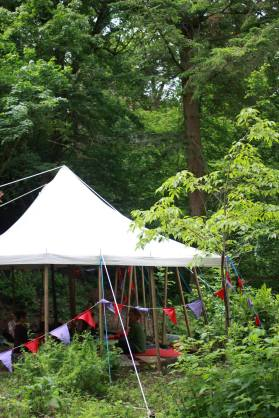 The yoga tent