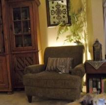 Chair in corner
