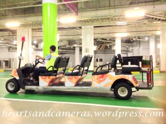 Buggy service around the carpark to travel to some parts of RWS