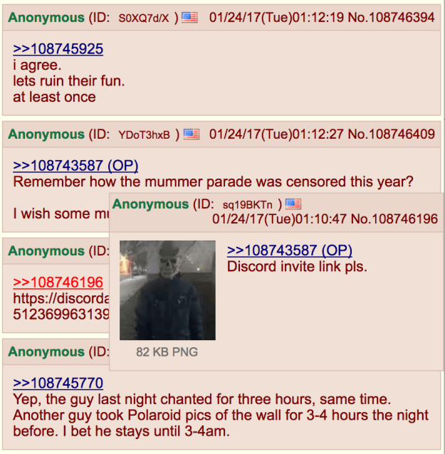 Moderators on 4chan and Reddit are trying to censor conversation about #HeWillNotDivideUs because users are organizing harassment campaigns against the anti-Trump protesters who are seen on the live stream.