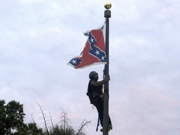 Newsome famously climbed the flagpole at the South Carolina State House in 2015 and took down the Confederate battle flag in protest of white supremacy.