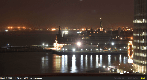 Lights went out at the Statue of Liberty on Tuesday after an unplanned power outage, the National Park Service said.