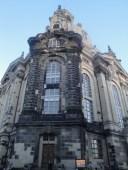 The Frauen Kirche: The dark stones are the original, prewar stones. The light ones are new.