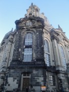 The Frauen Kirche: The dark stones are the original, prewar stones. The light ones are new.