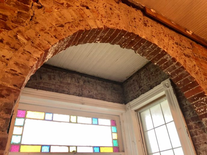 "We were surprised to find that even the ""bay window"" or whatever you call it, was originally brick!"