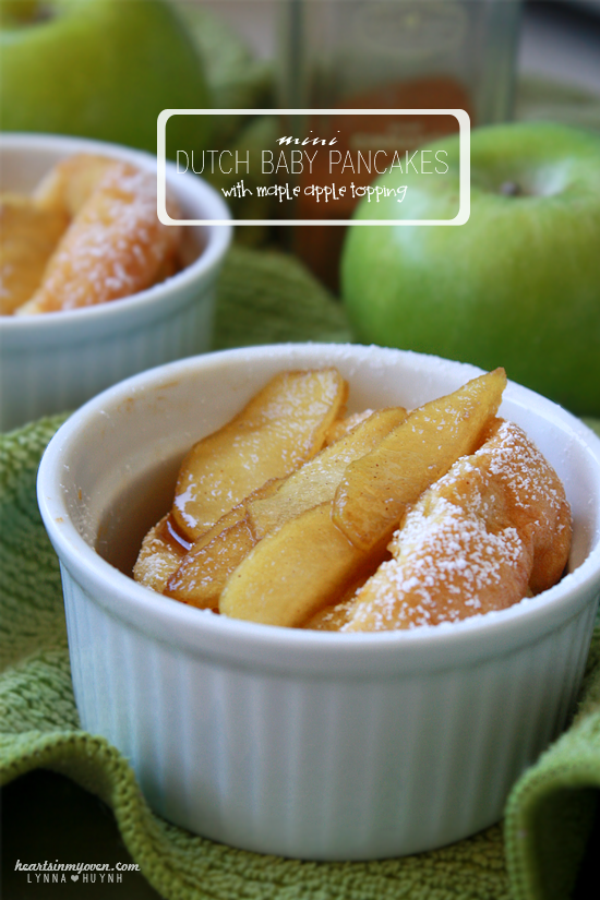 Mini Dutch Babies Pancakes with Maple Apple Topping
