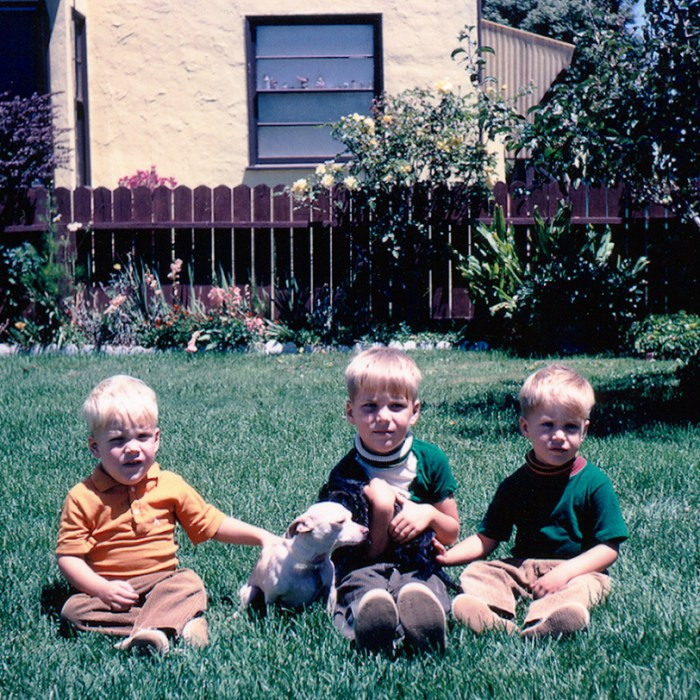 Tony, Ted, & Chad (left to right) at Easter 1968