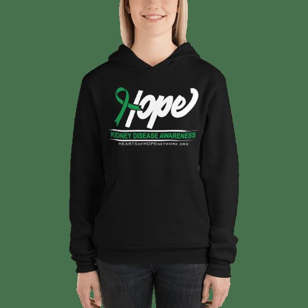 hope ribbon kidney disease awareness hoodie