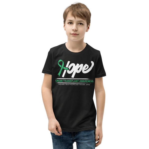 Hope Ribbon - Organ Transplant Awareness Shirt - Youth Shirt