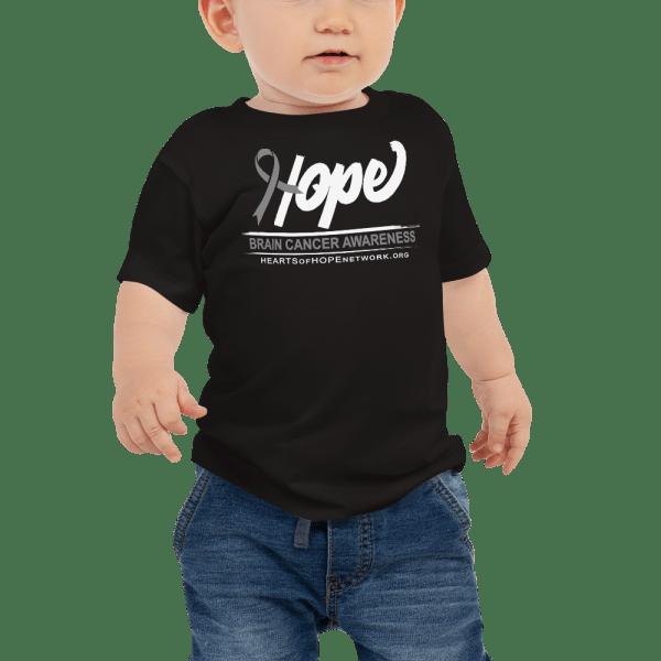 Hope Ribbon Brain Cancer Awareness Baby Shirt