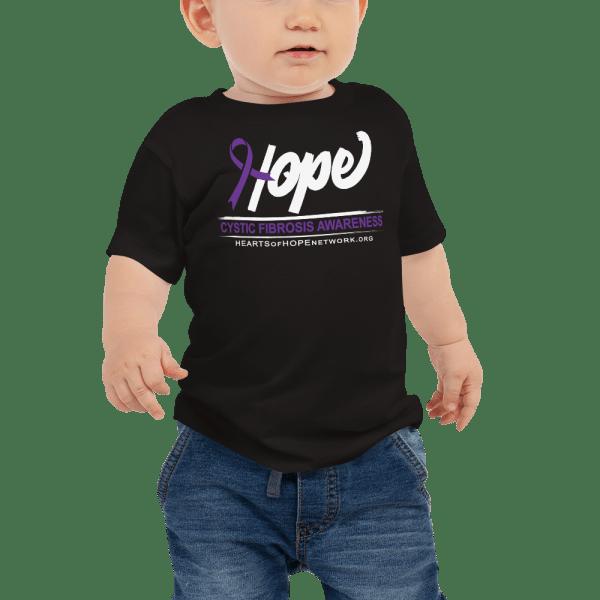 Hope Ribbon Cystic Fibrosis Awareness Baby Clothes