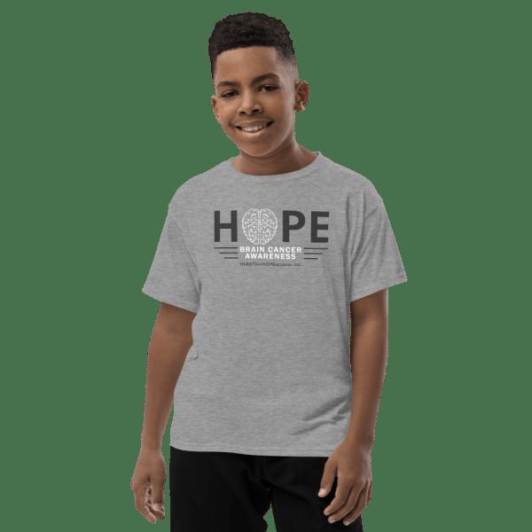 Hope Brain Cancer Awareness Youth T-Shirt