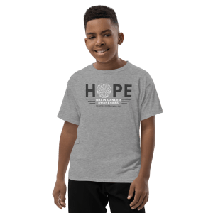 Hope Brain Cancer Awareness Youth T-Shirt