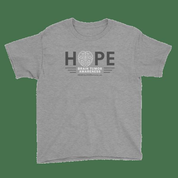 Hope Brain Tumor Awareness Youth T-Shirt